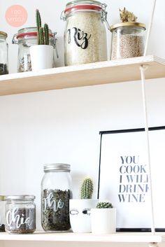 Rangement cuisine DIY