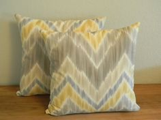 Pair of Handmade Braemore Tribal Find Ikat by PopOfColorPillows