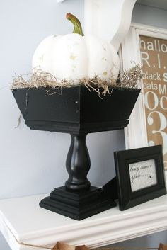 THRIFT STORE WOODEN PEDESTAL BOWL from the Thrift Store - The House of Smiths - Home DIY Blog - Interior Decorating Blog - Decorating on a Budget Blog