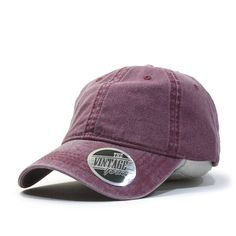 Vintage Washed Dyed Cotton Twill Low Profile Adjustable Baseball Cap (TP Charcoal Gray) at Amazon Men's Clothing store: