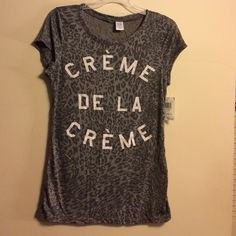 Graphic tee Thin summer tee. Size L from Macy's junior section Tops