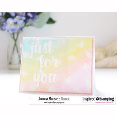 Inspired by Stamping, Joanna Munster, Just For You stamp set, thinking of you card (2)