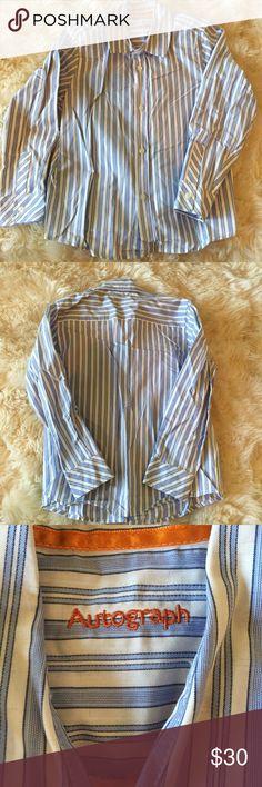 Autograph UK blue & white stripe button down shirt Autograph UK blue & white stripe cotton button down shirt. 5-6 years Autograph Shirts & Tops Button Down Shirts