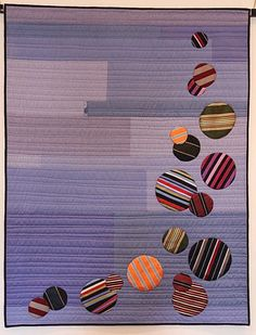 Untied by Kristen Hosemann, quilted by Sue Fox.  Stitch Modern 2015 exhibition.  Photo by The Plaid Portico.