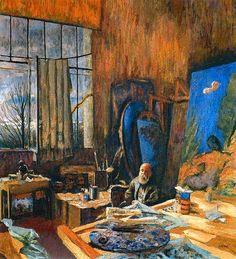 Edouard Vuillard in his Atelier, Ker Xavier Roussel