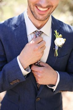 A groom with a colorful tie