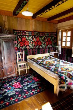 I am becoming bewitched by the stunning landscapes and charming villages of Romania, Croatia, Poland and surrounding countries. The bold and beautiful Romanian textiles above all. Romanian Gypsy, Visit Romania, Resorts, Up House, Thinking Day, Moldova, Bucharest, Traditional Rugs, Eastern Europe