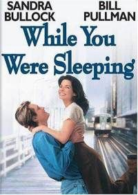 """""""While You Were Sleeping"""" Ticket collecting romantic pretends to be engaged to an unconscious man but can't fool his brotherl. This is a really fun romantic comedy, with Sandra Bullock and Bill Pullman. See Movie, Movie List, Film Music Books, Music Tv, Music Games, Sandra Bullock, Old Movies, Great Movies, 1995 Movies"""