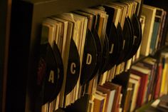 Organize Your Books and Music with DIY Labeled Dividers. » Curbly | DIY Design Community