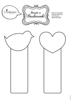 Here are some printable bookmarks you can colour in and send to your sponsored child!  (please remember to write your sponsored child's reference number and your Compassion reference number on the back). Thanks @Compassion International UK for a great printable!