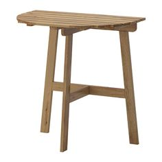 IKEA - ASKHOLMEN, Altanbord, Det er nemt at udnytte din lille altan eller terrasse optimalt, hvis du monterer bordet på væggen eller altanens gelænder.Møblerne er forbehandlet med et lag semitransparent træbejdse, så du kan nyde træets naturlige udseende og for at gøre det ekstra holdbart.