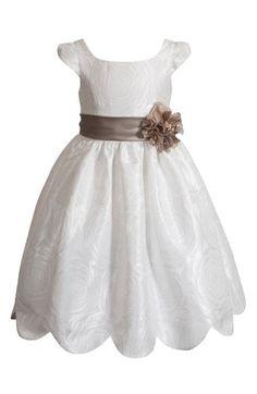 Kleinfeld Pink 'Collette' Cap Sleeve Dress (Toddler Girls & Little Girls) available at #Nordstrom