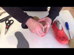 Валяние Тапочек - Изготовление и пришивание подошвы***