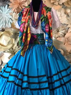 Excited to share this item from my shop: Mexican Ejutla de crespo oaxaca Frida Kahlo style-womans mexican boho coco theme party day of the dead SKIRT ONLY double skirt vuelo 36 in Mexican Traditional Clothing, Traditional Dresses, Mexican Clothing, Catrina Costume, Frida Kahlo Costume, Mexican Costume, Mexican Party, Mexican Fashion, Party Dress Outfits