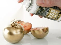 Edible gold spray paint!?!?! This is great, :)