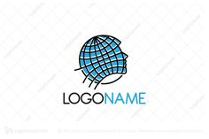 Logo for sale: Global Thinking by SimplePixel, uploaded on Logo design of a person head shaped like a globe. Global Thinking, Head Shapes, Logo Design, Community, Logos, People, People Illustration, Logo, Folk