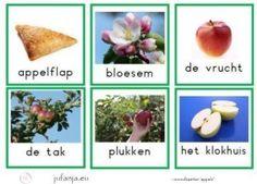 Woordkaarten thema appels