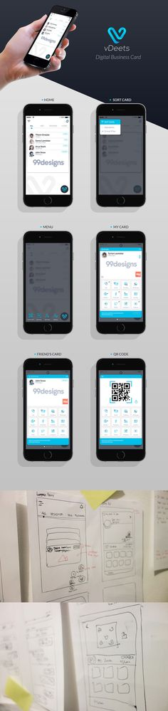 vDeets App UI/UX on Behance