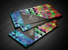 Pixel Mosaic Business Card by Lemongraphic , via Behance