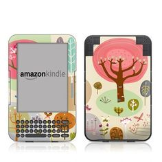 Forest Design Protective Decal Skin Sticker for Amazon Kindle Keyboard / Keyboard 3G (3rd Gen) E-Book Reader - High Gloss Coating by MyGift. $16.99. This scratch resistant skin sticker used High Gloss Coating which is the standard glossy finish and helps to protect your Kindle Keyboard / Keyboard 3G (3rd Generation - release in July 2010) E-Book Reader while making an impression. Self-adhesive plastic-coated skins cover the front and back surfaces of the Kindl...