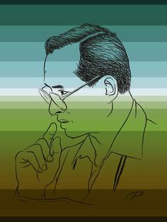 King of Simplicity_King Bhumibol Adulyadej # Illustrate by Piyawit Janthee