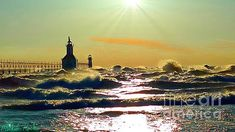 St Joseph Lighthouses by Michael Rucker
