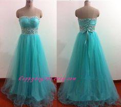 Long mint beaded prom dress/ bridesmaid dress/ by HappyBegins, $109.00
