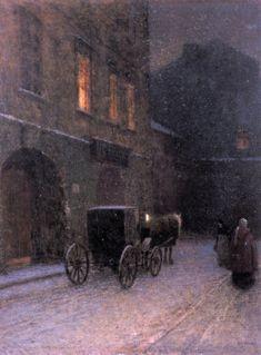 Jakub Schikaneder - Staropražská zákoutí (1907)