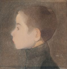 Helene Schjerfbeck: Boy's Head, Helene Schjerfbeck, Life Drawing, Painting & Drawing, Vintage Artwork, Scandinavian Modern, 2d Art, Drawing People, Illustrations, Modern Art