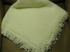 Afghan Knitted Cream Color Baby Blanket by bluuj on Etsy, $42.00
