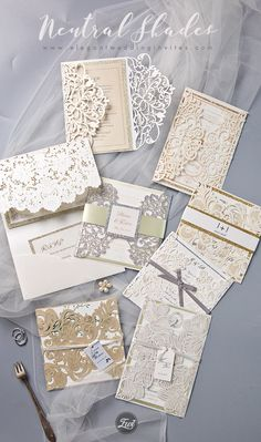 Pearl white, ivory and champagne laser cut wedding invitations. Ivory Wedding Invitations, Glitter Invitations, Watercolor Wedding Invitations, Wedding Invitation Design, Wedding Stationery, Vintage Wedding Theme, Wedding Themes, Wedding Ideas, Wedding Dresses