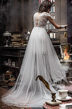 olvis 2017 couture bridal cap sleeves illusion bateau sweetheart neckline heavily embellished bodice tulle skirt romantic princess a  line wedding dress lace back chapel train (2291) bv #bridal #wedding #weddingdress #weddinggown #bridalgown #dreamgown #dreamdress #engaged #inspiration #bridalinspiration #weddinginspiration #weddingdresses