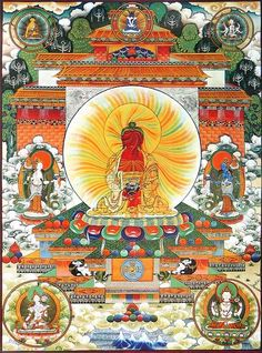 Amitabha Buddha (Reprint on Paper - Unframed)