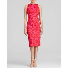MICHAEL Michael Kors Paisley Print Sheath Dress ($150) ❤ liked on Polyvore
