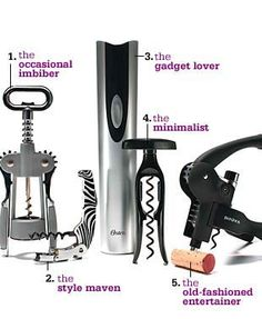 Wine Openers  No more yanking (or spilling)! Uncork your bottle like a pro with one of these top bar tools.
