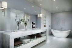 mármol para baños de lujo modernos