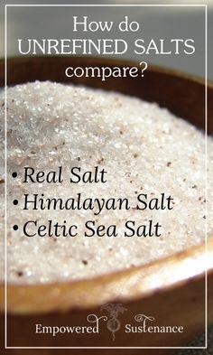 Learn how unrefined salt brands including Celtic salt, Real Salt, and Himalayan salt compare! www.edennuganics.co.uk - ≈ #EdenNuganics #HimalayanSalt