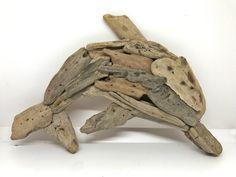 Driftwood Dolphin made by me Driftwood Sculpture, Driftwood Art, Rhodes Island Greece, Sculptures, Lion Sculpture, Coastal Art, Handmade Items, Handmade Gifts, Dolphins