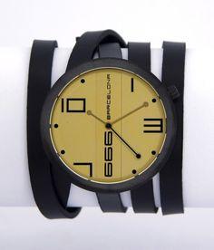 Reloj 666 Barcelona John Black Color Champagne | Relojes Mujer Online