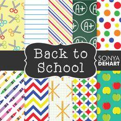 FREE Back to School Digital Papers from Sonya DeHart