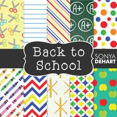 FREE Back to School Digital Papers from Sonya DeHart  - You have to like their Facebook page and then the download link will appear.