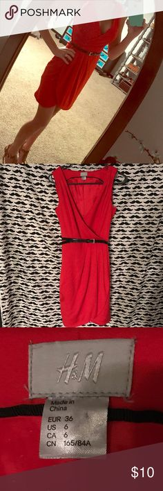 Size 6 red dress h&m