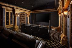 Home theaters paint colors Home Theater at Woodlands Home by Sneller Custom Homes and Remodeling