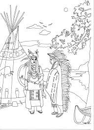 Display Image Coloring Adult Two Native Americans By Marion C