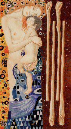 4 de bâtons - Tarot de Klimt par A. Atanassov