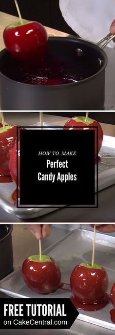 Mahalo's expert chef Jennifer Martello shows you how to make perfect candy apples. Candy apples are a classic treat enjoyed in...