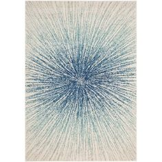 Safavieh Evoke 8' X 10' Power Loomed Rug in Royal and Ivory #Safavieh