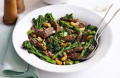 Sticky beef & broccoli stir fry
