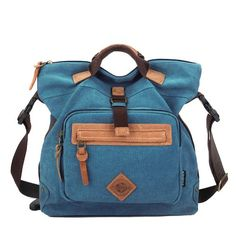 Artone KayLena Series Women's Water Resistant 2-Front Blue Canvas Luggage Bag
