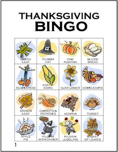 Thanksgiving Bingo - now adjust this for Mabon. I like playing bingo :-D Fun Thanksgiving Games, Thanksgiving Preschool, Happy Thanksgiving, Thanksgiving Traditions, Holiday Fun, Holiday Crafts, Holiday Games, Holiday Dinner, Fall Crafts